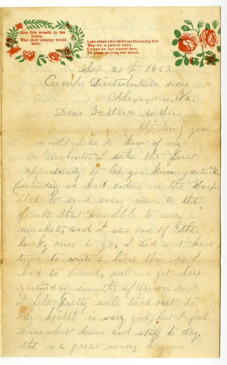 Wp0021863 09 20pg001 Arnold Civil War Letters Missouri State